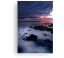 WHITE RUSH Canvas Print