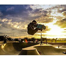 Skateboarder Jump Photographic Print