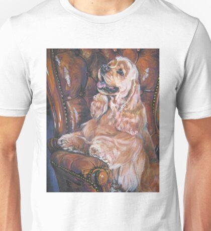 American Cocker Spaniel Fine Art Painting Unisex T-Shirt