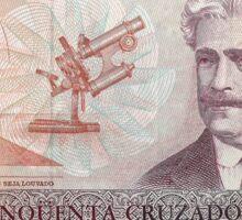 Brazil 50 Real Banknote Sticker Sticker