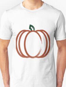 Autumn Harvest Orange Pumpkin Artwork Unisex T-Shirt