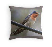 welcome swallow Throw Pillow