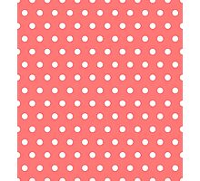 Small White Polka Dots on Pink background Photographic Print