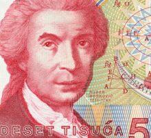 Croatia 50,000 Dinars Banknote Sticker Sticker