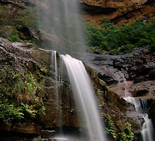 Wentworth Falls Vertical (Mid Falls) 2011 by STEPHEN GEORGIOU PHOTOGRAPHY