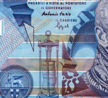 Italian 10,000 Lira Banknote Sticker Sticker
