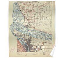 USGS Topo Map Oregon Portland 282795 1905 62500 Poster