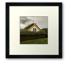 Iclandic turf house Framed Print