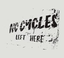 No Cycles Here by Amy Lewis