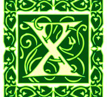 Letter 'X' in Vintage Monogram Ornamental Script by ukedward
