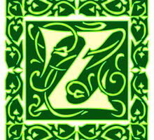Letter 'Z' in Vintage Monogram Ornamental Script Sticker by ukedward