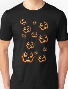 Evil Halloween Pumpkins Unisex T-Shirt