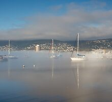 Boats off Battery Point, Hobart, Tasmania by Chris Cobern