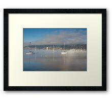 Boats off Battery Point, Hobart, Tasmania Framed Print