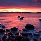 Beach near Flinders Esp, Taroona, Tasmania by Chris Cobern