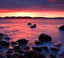 Beach near Flinders Esp, Taroona, Tasmania by Chris Cobern