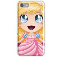 Blond Princess In Pink Dress iPhone Case/Skin
