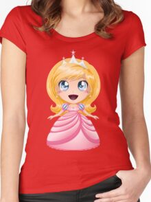 Blond Princess In Pink Dress Women's Fitted Scoop T-Shirt