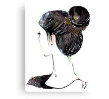 Chignon mignon Canvas Print