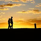 Romantic walk in the sunrise by thermosoflask