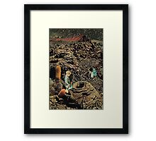 Looking for the lost toys, Vintage Collage Framed Print