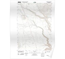 USGS Topo Map Oregon Hehe Butte 20110826 TM Poster