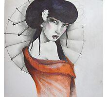 study for 'geisha with umbrella' Photographic Print