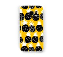 Black pineapple Samsung Galaxy Case/Skin