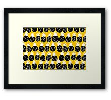 Black pineapple. Framed Print