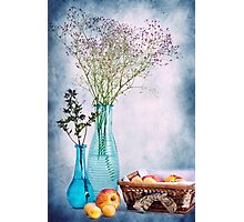 Flowers and fruits Photographic Print