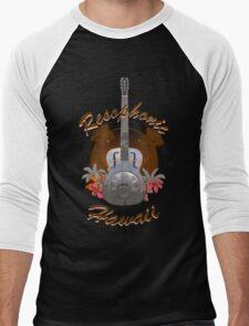 Resophonic Hawaii (brown) Men's Baseball ¾ T-Shirt
