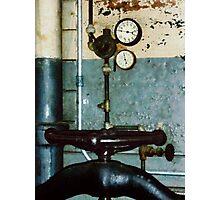 Gauges in Machine Shop Photographic Print