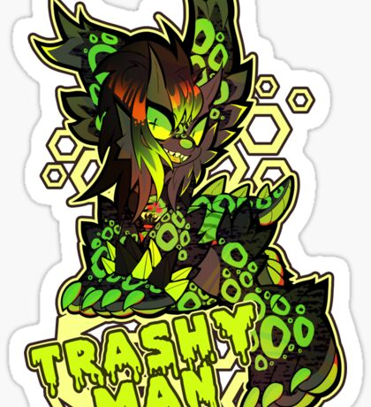 Trashy Man Sticker