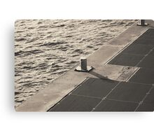 Sea Pier Geometry Canvas Print