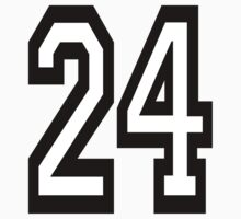 24, TEAM SPORTS, NUMBER 24, TWENTY, FOUR, Competition,  Kids Clothes