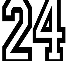 24, TEAM SPORTS, NUMBER 24, TWENTY, FOUR, Competition,  by TOM HILL - Designer