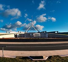 Canberra, Parliment House  by Jaxybelle