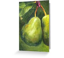 Go Green. Original Oil Painting by Cuban artist Magaly Greeting Card