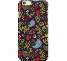 Folk birds. iPhone Case/Skin