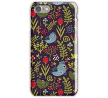 Folk birds iPhone Case/Skin