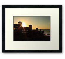 Sea break Framed Print