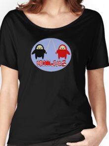 Ninjas - Black vs Red Women's Relaxed Fit T-Shirt