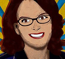 Tina Fey Pop Art by paleasashes