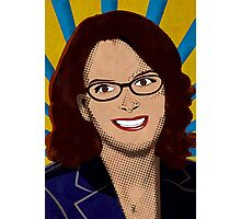Tina Fey Pop Art Photographic Print