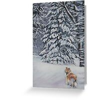 Collie Fine Art Painting Greeting Card