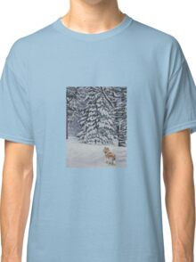 Collie Fine Art Painting Classic T-Shirt