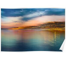 Landscape Motion Photo Painting Poster