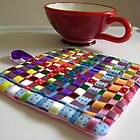 Trivet for Tea - Tessa Ribbons of Color by abercot