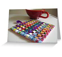 Trivet for Tea - Tessa Ribbons of Color Greeting Card