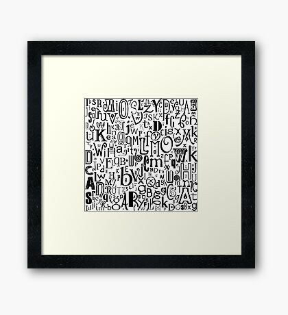 The Alphabet Framed Print